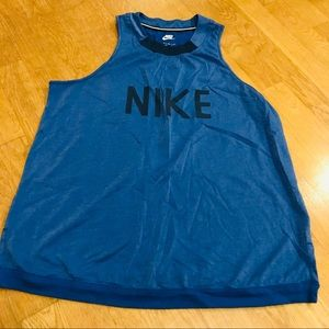 Nike High-Neck Blue Shimmer Tank Top